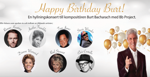 Happy birthday Burt- konsert